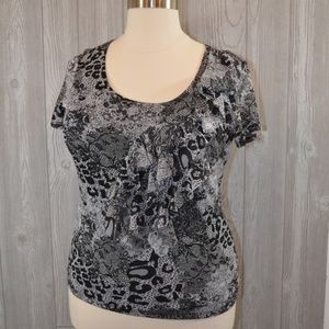 Adorable Ruffled short sleeve Top PLUS SIZE 1X
